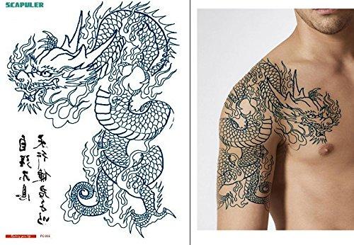 Arm spalla dragon tattoo temporanei braccio tattoo fake tattoo pc005