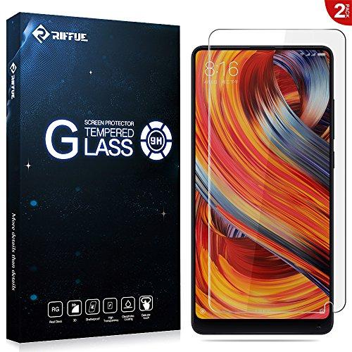 Riffue® Xiaomi Mi Mix 2 Protector de Pantalla, Cristal Vidrio Templado Glass [9H Dureza] [3D Touch] [Alta Definicion] - 0.26mm Screen Protector Film para Xiaomi Mi Mix 2, 5.99 Pulgadas [2 Unidades]