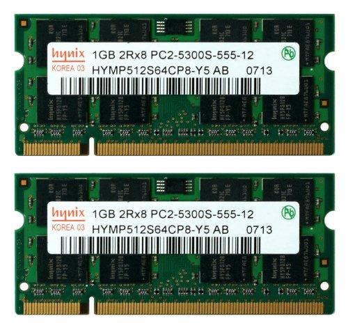 Hynix 2GB (2x 1GB) DDR2 PC2-5300 PC2-5400 667MHZ SODIMM (200 Pin) Laptop-Speicher -