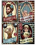 Generique - 4 Affiches de Cirque Vintage 38 cm