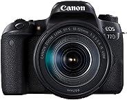 Canon EOS 77D EF-S 18-135mm F3.5-5.6 IS USM lens , 24.2 MP DSLR Camera, Black