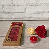 Devinez Scented Rose Smokeless Tealight Candles With Crystal Case, (Pack Of 10), 4.5 Hour Burning
