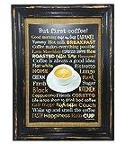 Kaffee Poster A4 Print Druck Coffee Café But first coffee AnneSvea Handmade Deko