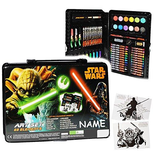71 Tlg Set Stifte Koffer Star Wars Darth Vader Yoda