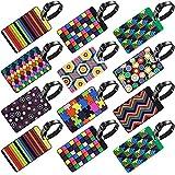 Caratteristiche del prodotto: Colore: variopinto Dimensioni: 10.5* 6.5cm/4.13* 2.56in Materiale: PVC Lista di imballaggio: 12* etichette per il bagaglio