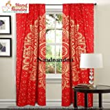 nandnandini Textil–Schöne Mandala Tapisserie Vorhänge, Drapes, Mandala, indische Vorhänge Mandala Wandbehang Bohemian Decor Fenster Behandlung Door Hanging Vorhang