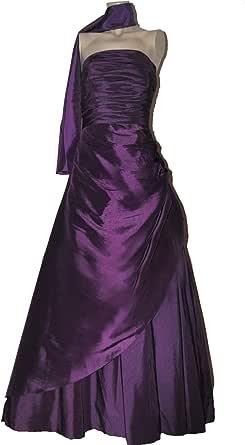 M1047, Abendkleid, Ballkleid lang wickeloptik lila Gr. 44 ...