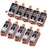 10 Pack Compatible Canon CLI-36 , PGI-35 5 Tri Color, 5 Black for use with Canon iP100, mini260. Ink Cartridges for inkjet printers. CLI-36-C / 1511B002 , PGI-35-BK / 1509B002 © Cartridge Net