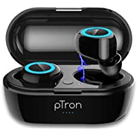 pTron Bassbuds in-Ear True Wireless Bluetooth 5.0 Headphones with Hi-Fi Deep Bass, 20Hrs Playtime with Case, Ergonomic…