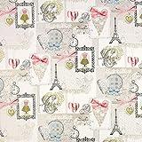 Fabulous Fabrics Jacquard Paris – beige — Meterware ab 0,5m — zum Nähen von Outdoor-Deko, Kissen und Tagesdecken und Tischdekorationen