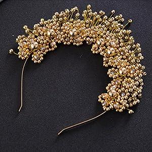 CYY Braut Kopfschmuck Perle Legierung Haarnadel Hochzeit Kleid Zubehör Blume Stirnband