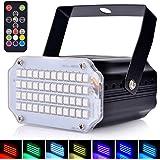Mini stroboscope lumière disco activée par le son - Éclairage de scène avec 48 LED super lumineuses - Flash Speed Control Str