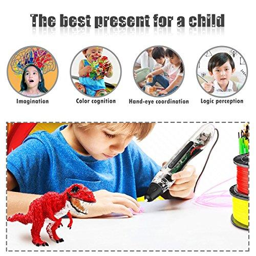 FUNTOK 3D Stift Printing Pen Printer Pen Druck Intelligente Niedrigen Temperatur 3D Stift Beste DIY Geschenk für für Kinder und Erwachsene - 6