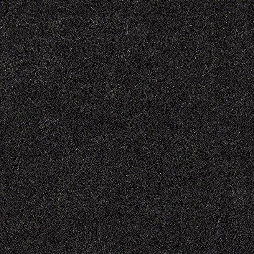 Filz 90cm / 3mm stark, 40 schwarz — Meterware ab 0,5 m — zum Nähen von Accessoires und Taschen
