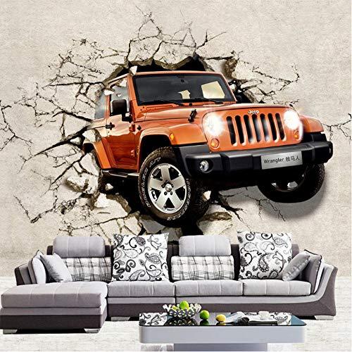 Benutzerdefinierte jeder Größe 3D Wallpaper Car Broken Wanddekorationen Wohnzimmer Kinderzimmer Hintergrundbild Tapete (Wallpaper Liverpool)