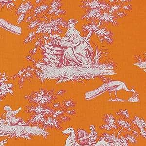 Gutermann tissu Toile-Cottage-Orange