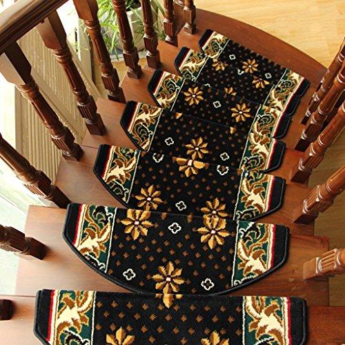 BBYE Europäische Art-selbstklebendes Rutschfeste Schritt-Auflage-Haus-Extradicke Feste Hölzerne Treppen-Teppich ( farbe : 1 Piece , größe : B-80*24cm )