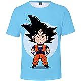 HAOSHENG Niño Niña 3D Camiseta Goku Super Saiyan Camiseta Manga Anime Super Saiyan Cosplay T-Shirt