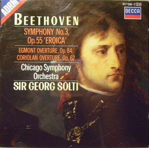 Preisvergleich Produktbild Beethoven: Sinf.3 / Egmont Ouvertüre Op. 84 / Coriolan Ouvertüre Op.62