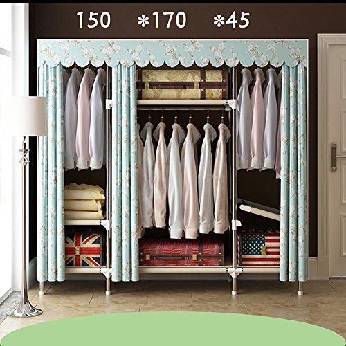 """Faltender Versammlungskabinett des Wandschranks Doppelrohr mutiger Garderobe Oxford-Tuchschrank, 67 * 67\""""(172 * 170cm), B"""
