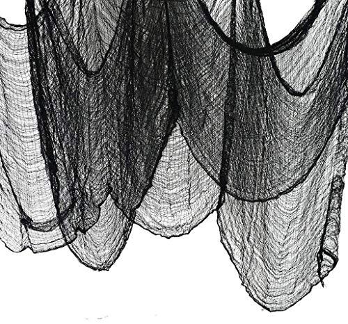 JCT Halloween Deko Stoff Dekostoff Tuch Decke Horror Halloweenstoff schwarz 196,8 X 79 Zoll (500 X 200 cm) Spuk Spukhäuser Dekor Hallowmas Party Supplies