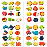 #5: Jef Colour Wooden Cartoon Or Nature Theme Fridge Magnets ( Set Of 40 Random Magnets )