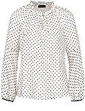 TAIFUN Bluse Langarm Trend-Bluse mit Tupfen-Dessin White Swan Gemustert 44
