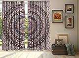 Indischer Elefant Urban Mandala Vorhänge Wand Stickset Boho Elefant Fenster Vorhang Behandlungen Panel Set, Tür Vorhang, Blackout Vorhänge, Vorhang für Wohnzimmer 2Pcs Set by bhagyoday Fashions