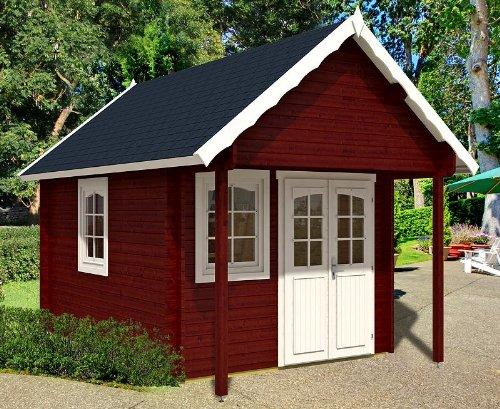 Gartenhaus BUNKIE mit Schlafboden und Vordach