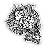 2 x Sugar Skull Vinyl Stickers Mexico Festival Day of the Dead #7492