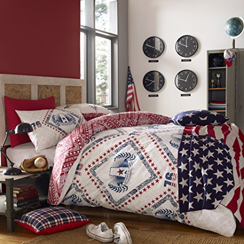 american-freshman-cooper-bett-set-inkl-bettbezug-kissenbezug-polyester-navy-einzelbett