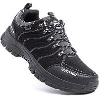 Scarpe Trekking Uomo Traspiranti Scarpe da Escursionismo Basse Leggere Sneakers Lacci All'Aperto Montagna Invernali Nero…