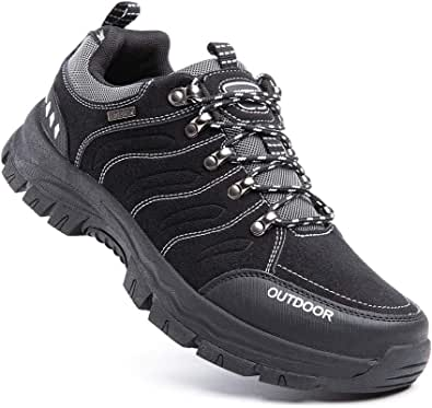 Hiking Shoes Men Non-Slip Low Rise Trekking Boots Synthetic Breathable Walking Shoes Outdoor All Seasons Black Blue Green Brown Size UK 3.5-13