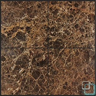 Dark Emperador 6x6 Polished Marble Tile by Allmarbletiles