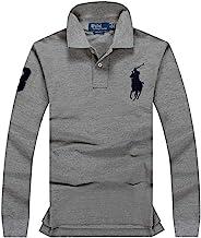 Polo Ralph Lauren Mens Polo Shirt Slim Fit Mesh Big Pony Embroidery Long sleeve