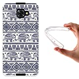 WoowCase Alcatel Idol 4S Hülle, Handyhülle Silikon für [ Alcatel Idol 4S ] Blauer Elefant Handytasche Handy Cover Case Schutzhülle Flexible TPU - Transparent
