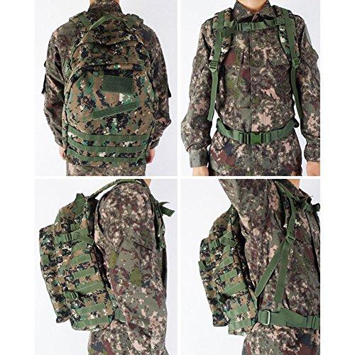 Militare tattico zaino 45l Climb per outdoor trekking campeggio caccia trekking borsa zaino da assalto combattimento, Digital Camo