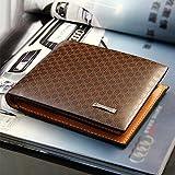 janedream Effiziente Chic Falten, der Style der Brieftasche Herren PU Leder Wallet Pocket Card Kupplung