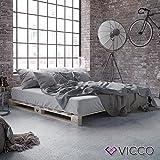 VICCO Palettenbett Bett Holz Massivholzbett 90 100 120 140 160 180 200 x 200cm, Palettenm bel MADE IN GERMANY (140x200)