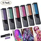 Haarkreide Kamm Haar-Farben-Haarbürste, Haar-Färbungs-Bürsten-Gebrauch für Partei, Abendkleid, Festival, Leistung Kostüme und Vorübergehende Farbe für Mädchen