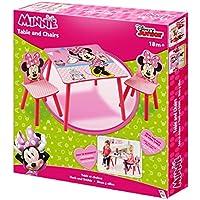Preisvergleich für Minnie Mouse Sitzgruppe Tisch Kindersitzgruppe Spieltisch Kindertisch Set 527MMU