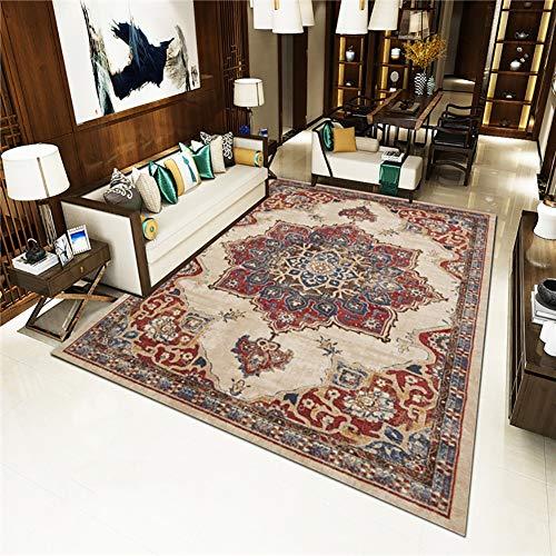 QKa Teppiche für Wohnzimmer Schlafzimmer Innenbereich, Teppiche Dekor Dekorative Teppiche für Mädchen Jungen Wohnheim Esszimmer, Bodenmatte EUR und US Style Teppich 4-Fuß x 5-Fuß,25 -