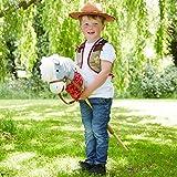 Cowboy mit Steckenpferd Kostüm-Set für Kinder - Einheitsgröße