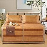 Klimatisierte Matte Faltbare Beidseitig Verfügbar Coole Matratze 1,5m 1,8m 3-teilig Sommerschlafmatte Bambusdecke Studentenwohnheim Glattmatte (Farbe : Style 2, größe : 1.8m (6 ft) bed)