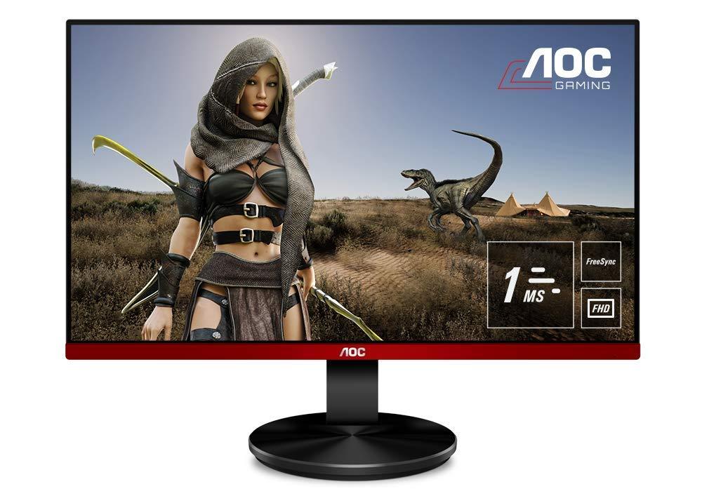 AOC-G2590VXQ-245-Widescreen-TN-LED-BlackRed-Multimedia-Monitor-1920x10801msVGAHDMIDisplayPort
