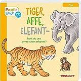 Tiger, Affe, Elefant: Ein Pappebuch mit lustigen Reimen (Bilderbuch ab 2 Jahre)