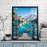 Hotsellhome 5D DIY Crystal Diamond Embroidery Painting Kit Landscape Picture Cross Stitch Arts Craft Supply for Home Wall Decoration, Full Drill, Perfect for Beginners with Paintings Tools
