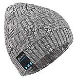 Bonnet tricoté Bluetooth écouteur 4.2 sans Fil avec Mini Haut-Parleur stéréo et HD Mic d'antibruit intégré, Compatible avec iPhone, iPad, Tout Smartphone, Tablette,pour la Course ou Les Autres Sport