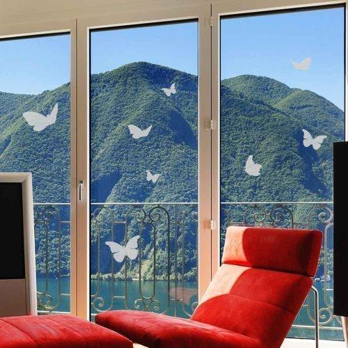 Schmetterlinge Glasdekorfolie Milchglaseffekt