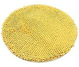 Luxbon Chenille Teppiche Stopp Antirutschmatte Badteppich Fussmatte Boden Sofa Matte Modern Gelb Rund Ø 60 cm